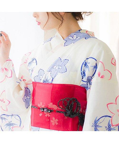 Dita(ディータ)/Dita【ディータ】1人で簡単に着られる作り帯の可愛い女性浴衣 4点フルセット(ゆかた・作り帯・下駄・着付けカタログ)/dl-2013yukata4_img23