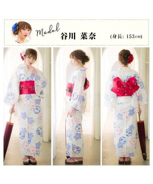 Dita(ディータ)/Dita【ディータ】1人で簡単に着られる作り帯の可愛い女性浴衣 4点フルセット(ゆかた・作り帯・下駄・着付けカタログ)/dl-2013yukata4_img24