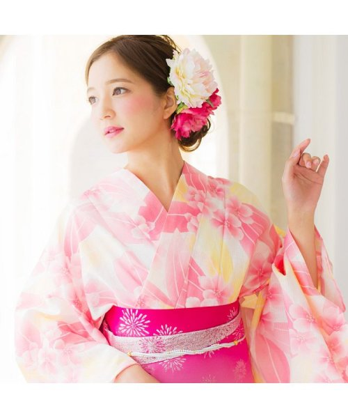 Dita(ディータ)/Dita【ディータ】1人で簡単に着られる作り帯の可愛い女性浴衣 4点フルセット(ゆかた・作り帯・下駄・着付けカタログ)/dl-2013yukata4_img26