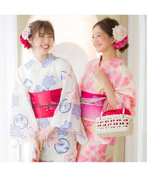 Dita(ディータ)/Dita【ディータ】1人で簡単に着られる作り帯の可愛い女性浴衣 4点フルセット(ゆかた・作り帯・下駄・着付けカタログ)/dl-2013yukata4_img27