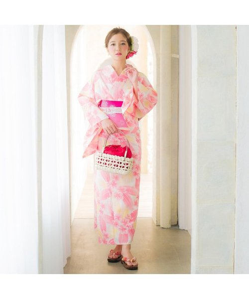Dita(ディータ)/Dita【ディータ】1人で簡単に着られる作り帯の可愛い女性浴衣 4点フルセット(ゆかた・作り帯・下駄・着付けカタログ)/dl-2013yukata4_img29