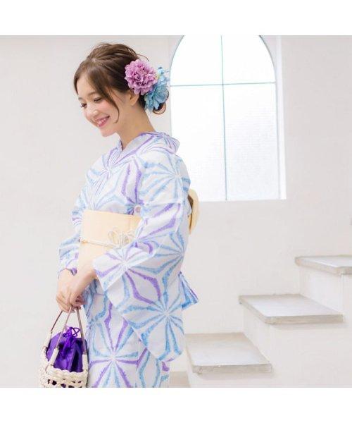Dita(ディータ)/Dita【ディータ】1人で簡単に着られる作り帯の可愛い女性浴衣 4点フルセット(ゆかた・作り帯・下駄・着付けカタログ)/dl-2013yukata4_img43