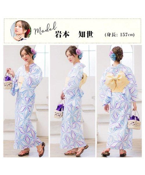Dita(ディータ)/Dita【ディータ】1人で簡単に着られる作り帯の可愛い女性浴衣 4点フルセット(ゆかた・作り帯・下駄・着付けカタログ)/dl-2013yukata4_img45