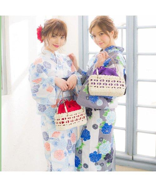 Dita(ディータ)/Dita【ディータ】1人で簡単に着られる作り帯の可愛い女性浴衣 4点フルセット(ゆかた・作り帯・下駄・着付けカタログ)/dl-2013yukata4_img64