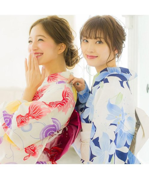 Dita(ディータ)/Dita【ディータ】1人で簡単に着られる作り帯の可愛い女性浴衣 4点フルセット(ゆかた・作り帯・下駄・着付けカタログ)/dl-2013yukata4_img68
