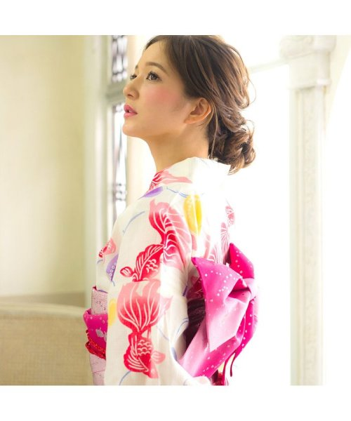 Dita(ディータ)/Dita【ディータ】1人で簡単に着られる作り帯の可愛い女性浴衣 4点フルセット(ゆかた・作り帯・下駄・着付けカタログ)/dl-2013yukata4_img69