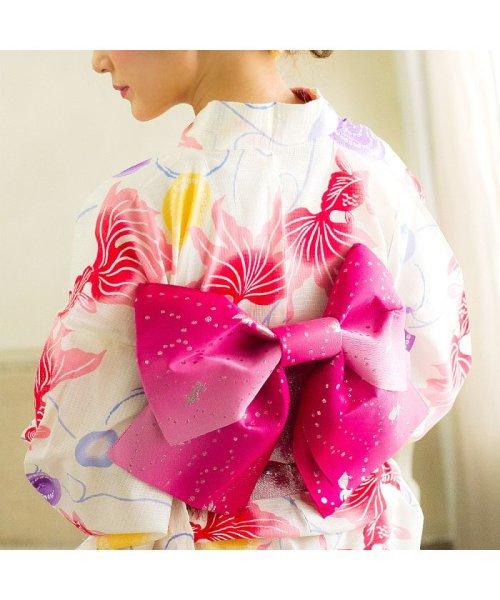Dita(ディータ)/Dita【ディータ】1人で簡単に着られる作り帯の可愛い女性浴衣 4点フルセット(ゆかた・作り帯・下駄・着付けカタログ)/dl-2013yukata4_img70