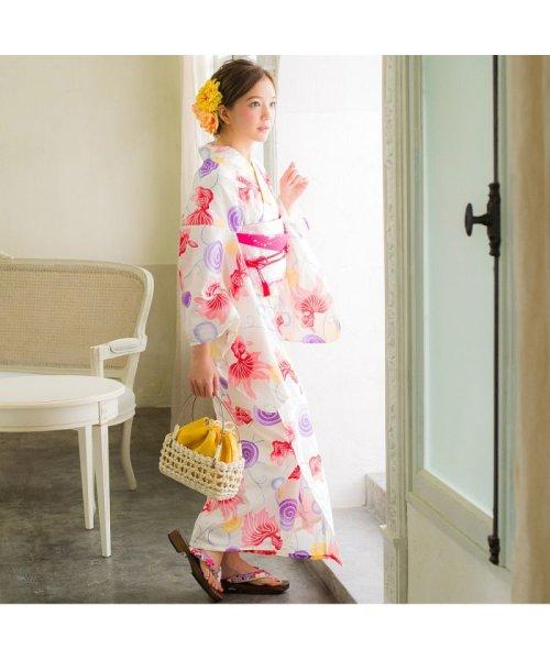 Dita(ディータ)/Dita【ディータ】1人で簡単に着られる作り帯の可愛い女性浴衣 4点フルセット(ゆかた・作り帯・下駄・着付けカタログ)/dl-2013yukata4_img71