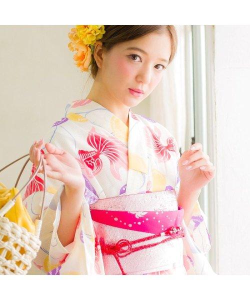 Dita(ディータ)/Dita【ディータ】1人で簡単に着られる作り帯の可愛い女性浴衣 4点フルセット(ゆかた・作り帯・下駄・着付けカタログ)/dl-2013yukata4_img72