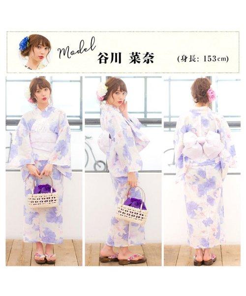 Dita(ディータ)/Dita【ディータ】1人で簡単に着られる作り帯の可愛い女性浴衣 4点フルセット(ゆかた・作り帯・下駄・着付けカタログ)/dl-2013yukata4_img80