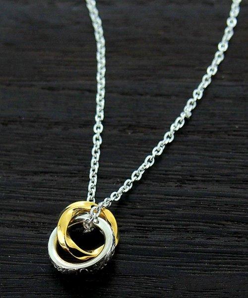 LION HEART(ライオンハート)/LH BASIC プルメリアダブルリングネックレス/01NE0041SV_img02