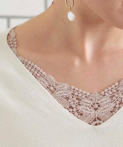 le.coeur blanc(ルクールブラン)/フロントモチーフレースキャミ/3585019201_img13