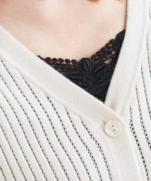le.coeur blanc(ルクールブラン)/フロントモチーフレースキャミ/3585019201_img15