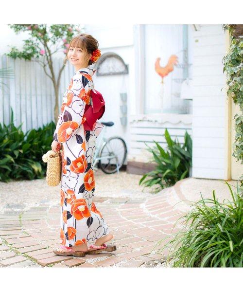 Dita(ディータ)/Dita【ディータ】1人で簡単に着られる作り帯の可愛い女性浴衣 4点フルセット(ゆかた・作り帯・下駄・着付けカタログ)/dl-2018kimuface16_img01