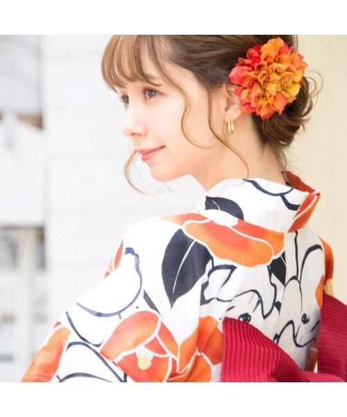 Dita(ディータ)/Dita【ディータ】1人で簡単に着られる作り帯の可愛い女性浴衣 4点フルセット(ゆかた・作り帯・下駄・着付けカタログ)/dl-2018kimuface16_img02