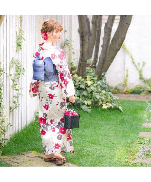 Dita(ディータ)/Dita【ディータ】1人で簡単に着られる作り帯の可愛い女性浴衣 4点フルセット(ゆかた・作り帯・下駄・着付けカタログ)夏のガーリーレトロ/dl-2018kimuface22_img01