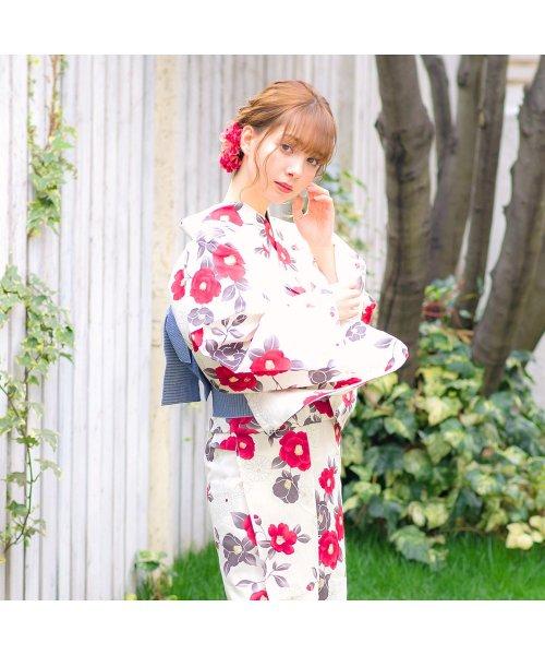Dita(ディータ)/Dita【ディータ】1人で簡単に着られる作り帯の可愛い女性浴衣 4点フルセット(ゆかた・作り帯・下駄・着付けカタログ)夏のガーリーレトロ/dl-2018kimuface22_img03