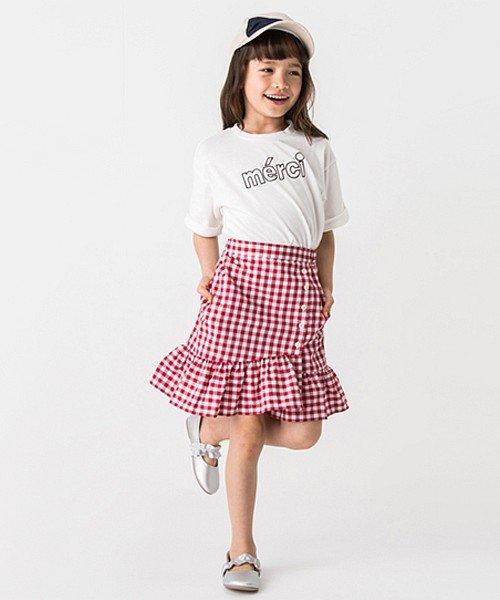 petit main(プティマイン)/裾フリル切り替えギンガムチェック柄スカート/9682108_img01