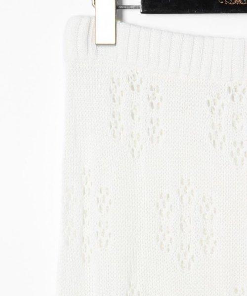 GRACE CONTINENTAL(グレースコンチネンタル)/フラワーパターンニットスカート/18223063_img04