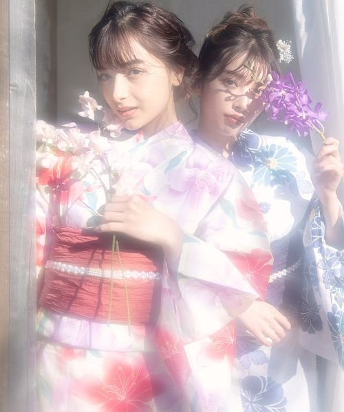 Dita(ディータ)/Dita【ディータ】1人で簡単に着られる作り帯の可愛い女性浴衣 4点フルセット(ゆかた・作り帯・下駄・着付けカタログ)/dl-2017yukata5_img07