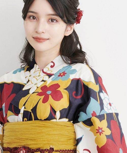 Dita(ディータ)/Dita【ディータ】1人で簡単に着られる作り帯の可愛い女性浴衣 4点フルセット(ゆかた・作り帯・下駄・着付けカタログ)/dl-2017yukata5_img29