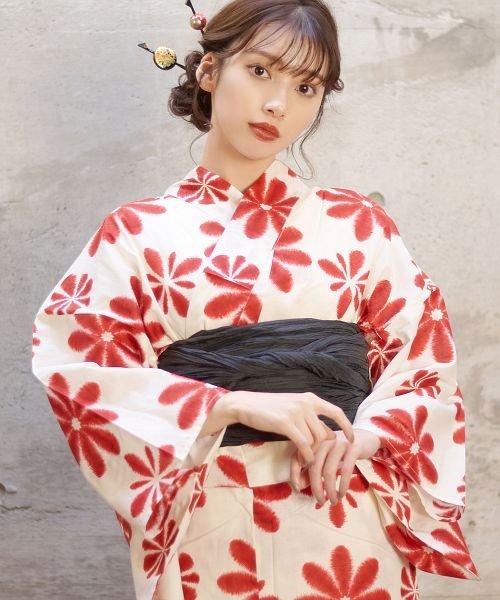 Dita(ディータ)/Dita【ディータ】1人で簡単に着られる作り帯の可愛い女性浴衣 4点フルセット(ゆかた・作り帯・下駄・着付けカタログ)/dl-2017yukata5_img32