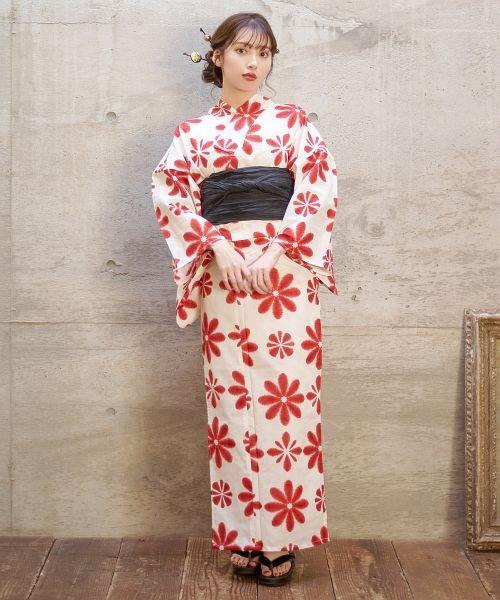 Dita(ディータ)/Dita【ディータ】1人で簡単に着られる作り帯の可愛い女性浴衣 4点フルセット(ゆかた・作り帯・下駄・着付けカタログ)/dl-2017yukata5_img33