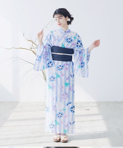 Dita(ディータ)/Dita【ディータ】1人で簡単に着られる作り帯の可愛い女性浴衣 4点フルセット(ゆかた・作り帯・下駄・着付けカタログ)/dl-2017yukata5_img53