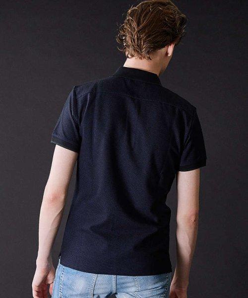 5351POURLESHOMMES(5351POURLESHOMMES)/COOLMAXハニカムZIPポロシャツ/02360022019_img14