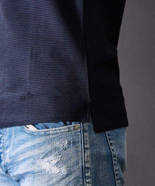 5351POURLESHOMMES(5351POURLESHOMMES)/COOLMAXハニカムZIPポロシャツ/02360022019_img17