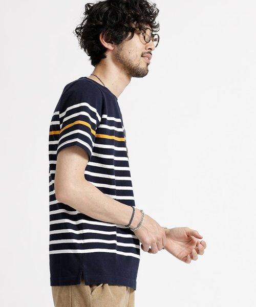 nano・universe(ナノ・ユニバース)/米綿バスクボーダーTシャツ/6688124509_img01