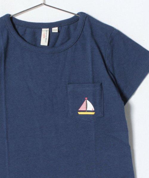 LAGOM(ラーゴム)/マリンプリントポケットTシャツ/1206388221411_img02