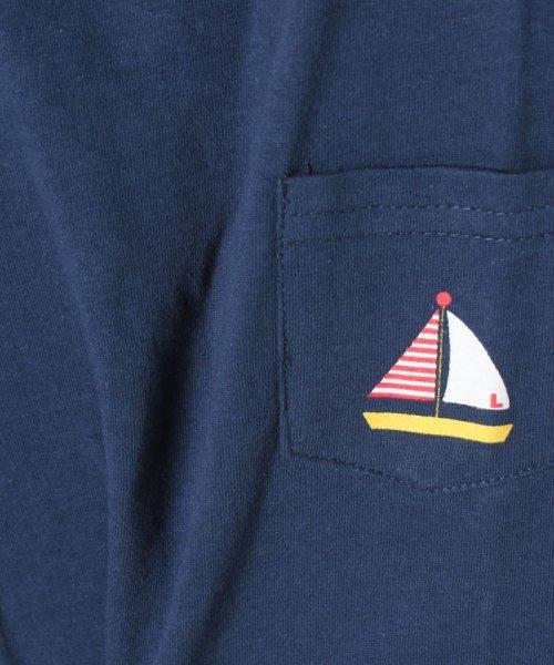 LAGOM(ラーゴム)/マリンプリントポケットTシャツ/1206388221411_img03