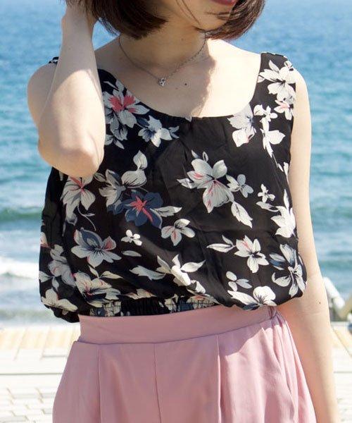 ANDJ(ANDJ(アンドジェイ))/裾シャーリング花柄シフォンタンクトップスキャミソール/tk01c02593_img05