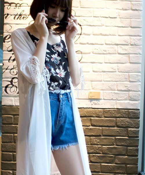 ANDJ(ANDJ(アンドジェイ))/裾シャーリング花柄シフォンタンクトップスキャミソール/tk01c02593_img07