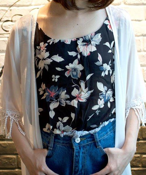 ANDJ(ANDJ(アンドジェイ))/裾シャーリング花柄シフォンタンクトップスキャミソール/tk01c02593_img08