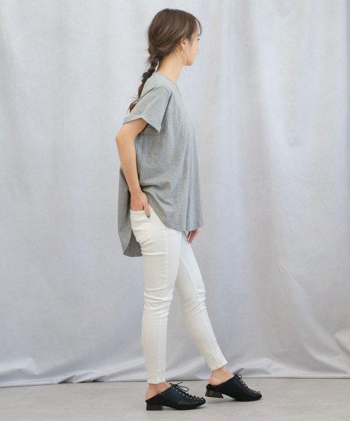 ANDJ(ANDJ(アンドジェイ))/ポケット付きラウンドカット半袖Tシャツ/ts74c03865_img06
