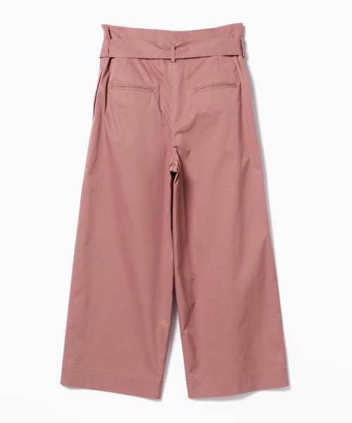 BEAMS OUTLET(ビームス アウトレット)/【洗える】Demi-Luxe BEAMS / ウエストリボン ワイドストレートパンツ/68230258594_img03