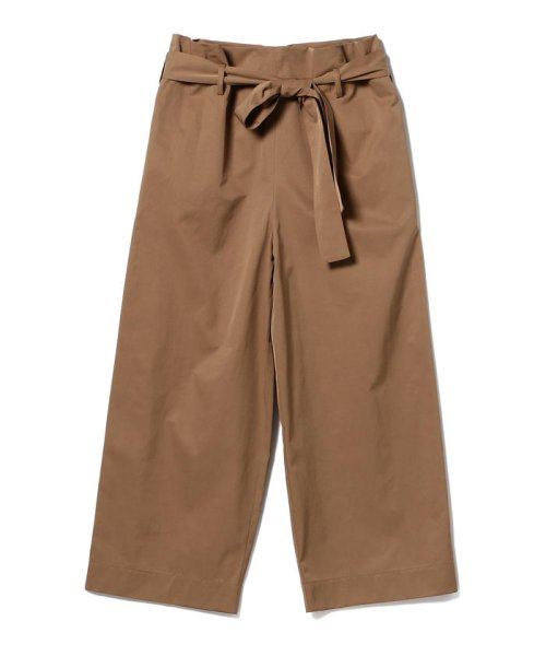BEAMS OUTLET(ビームス アウトレット)/【洗える】Demi-Luxe BEAMS / ウエストリボン ワイドストレートパンツ/68230258594_img09