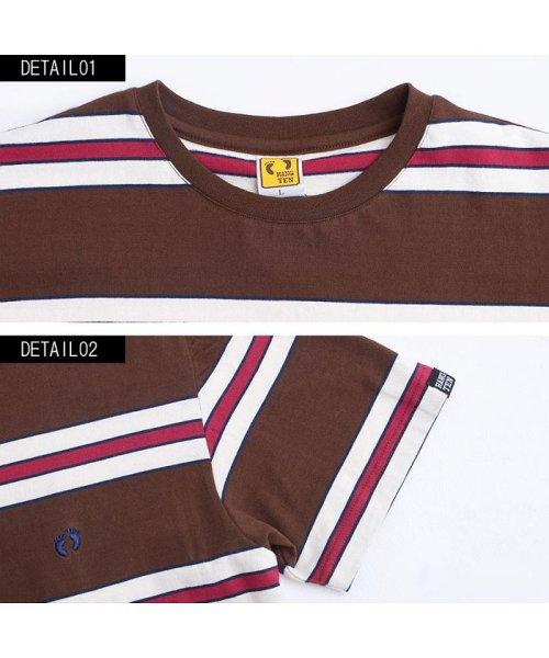 HANG TEN(ハンテン)/HANG TEN【ハンテン】ボーダー柄クルーネック半袖Tシャツ/H3856_img05