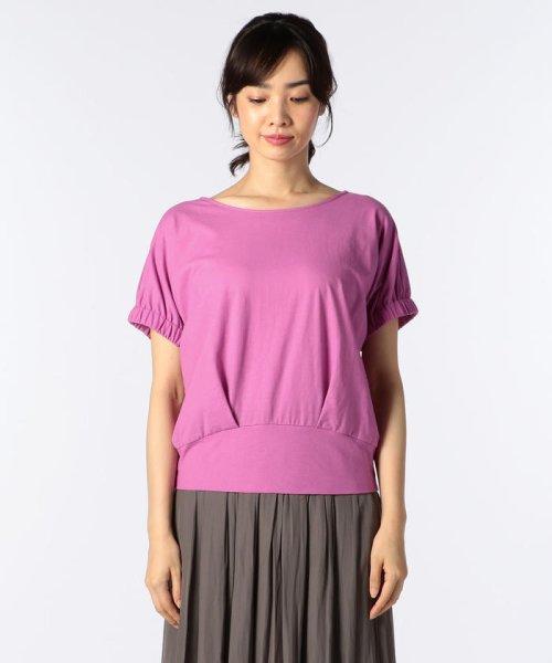 NOLLEY'S(ノーリーズ)/ドライコットンパフスリーブTシャツ/8-0040-3-03-001_img01