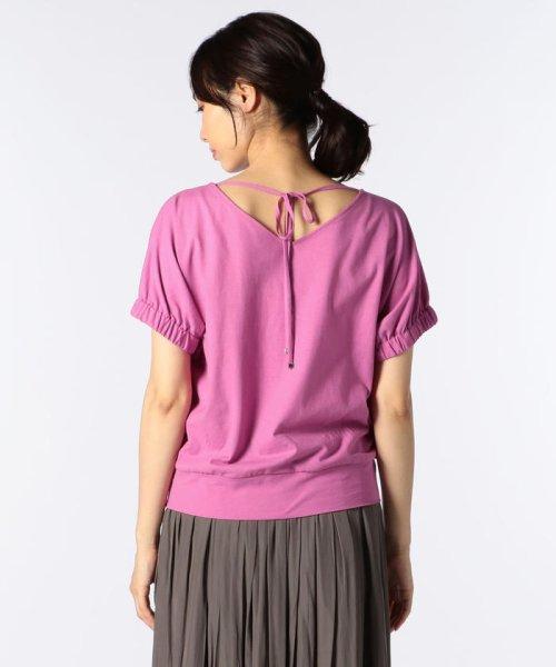 NOLLEY'S(ノーリーズ)/ドライコットンパフスリーブTシャツ/8-0040-3-03-001_img03