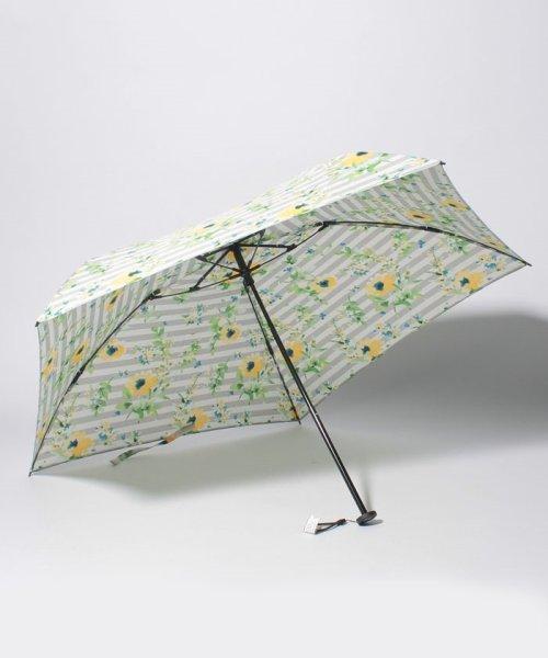Afternoon Tea LIVING(アフタヌーンティー・リビング)/フラワーボーダー柄軽量折りたたみ傘 雨傘/FG5218100597_img01