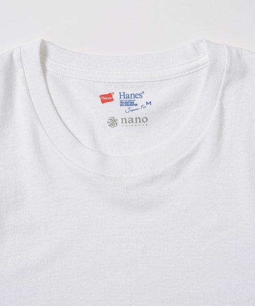 nano・universe(ナノ・ユニバース)/HANES/別注パックTEE クルー&Vネック/6708123026_img04