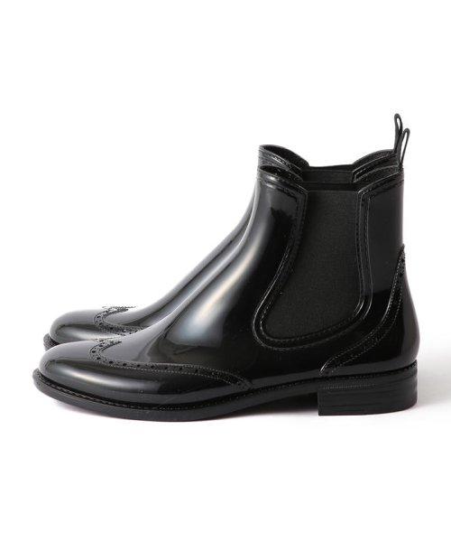 Demi-Luxe BEAMS(デミルクスビームス)/Traditional Weatherwear / ウイングチップ サイドゴア レインブーツ/64310037118_img01
