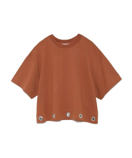 Mila Owen(ミラオーウェン)/アイレットヘム短丈ワイドTシャツ/09WCT182099_img01