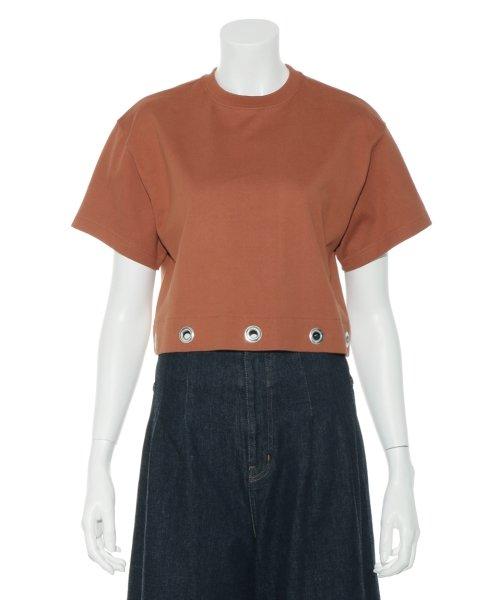 Mila Owen(ミラオーウェン)/アイレットヘム短丈ワイドTシャツ/09WCT182099_img02