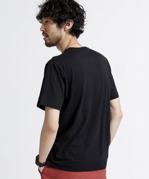 nano・universe(ナノ・ユニバース)/綿麻スラブクルーTシャツ/6688124502_img01