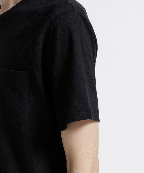 nano・universe(ナノ・ユニバース)/綿麻スラブクルーTシャツ/6688124502_img03