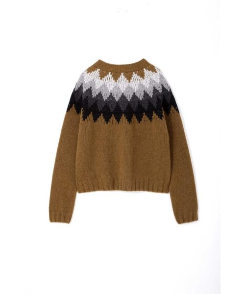 MARGARET HOWELL(マーガレット・ハウエル)/DIAMOND FAIRISLE JUMPER/5788263006_img01